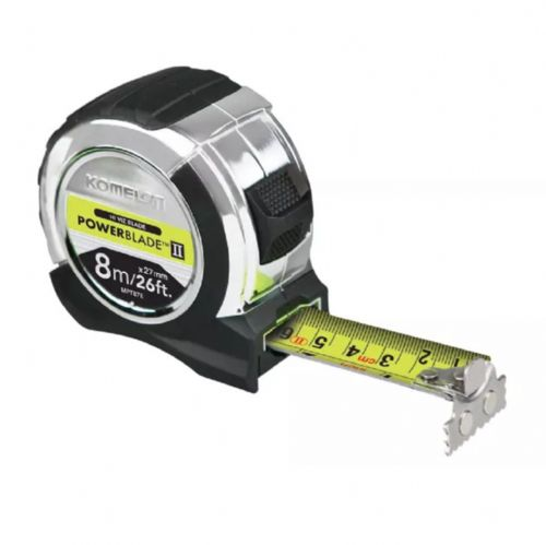 Komelon PowerBlade™ II Pocket Tape Measure 8m/26ft (Width 27mm)